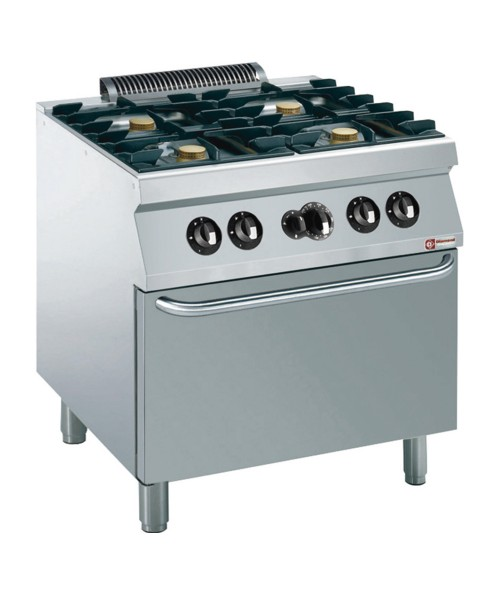 G17/4BF8-AGA Gas Range Oven GN 2/1 with 4 Burner Gas Stove