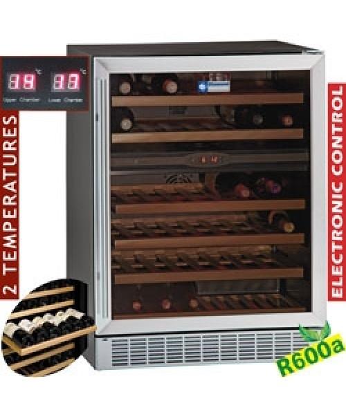 WCB/16-X2 Glazed Wine Cabinet 160L Black