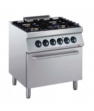 G17/4BFE8-AGA Electric Range Oven GN 2/1 with 4 Burner Gas Stove