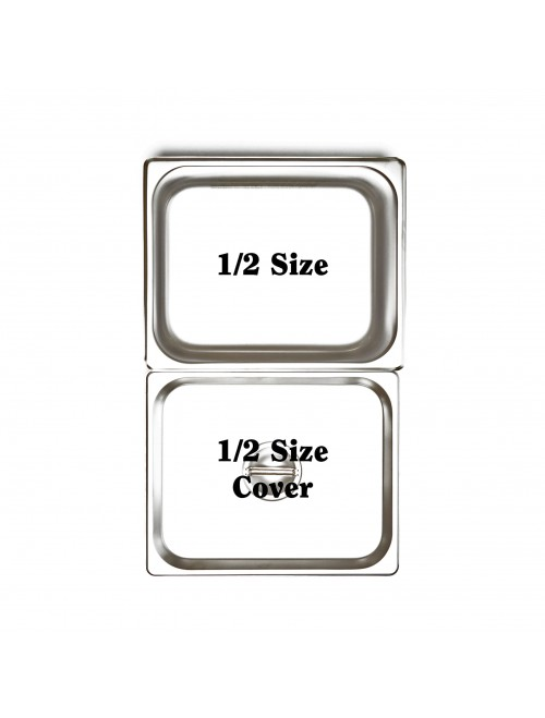 X1502 1/2 Size GN 18:8 Stainless Steel Pan 65mm Deep (shown with Lid sold separately)