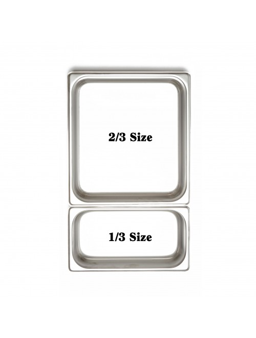 X1602 1/3 Size GN 18:8 Stainless Steel Pan 65mm Deep