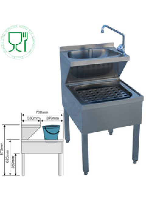 LMC-57 Freestanding Handwash Station With Bucket Drainage