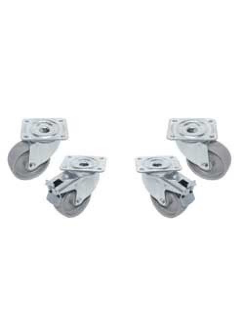 RTG4-PM Kit 4 St.Steel Castors Swivel. 2 With Brakes