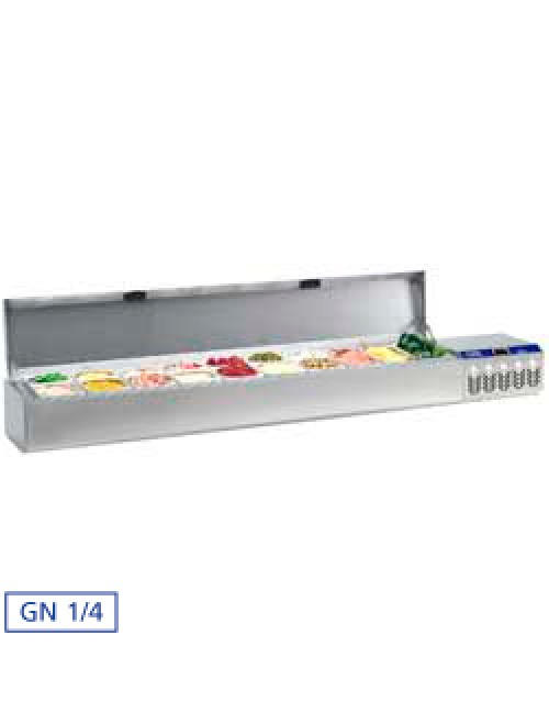 SX219G/CM Refrigerated Food Cabinet 3x1/4, 7x1/6, 7x1/9GN with Cover