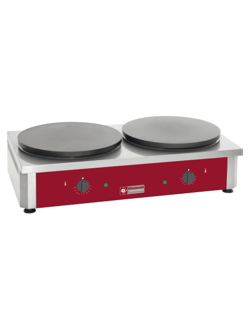 BRET/2E-R Commercial Dual Electric Crepe Maker Pan High Output