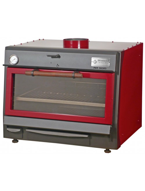 CBQ-075 Charcoal Oven GN 1/1 + GN 2/4 (75Kg/h)