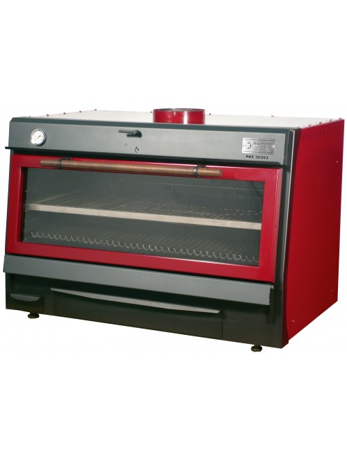 CBQ-120 Charcoal Oven GN 2/1 + GN 1/1 (150Kg/h)