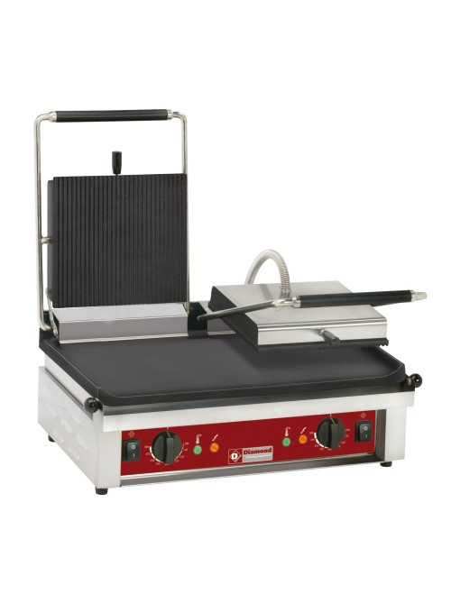 CONTACT DG2/SS Double Contact-Grill Enamelled Plates