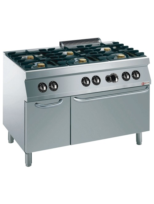 G17/6BFA12-AGA Gas Range Oven GN 2/1 With 6 Burner Gas Stove