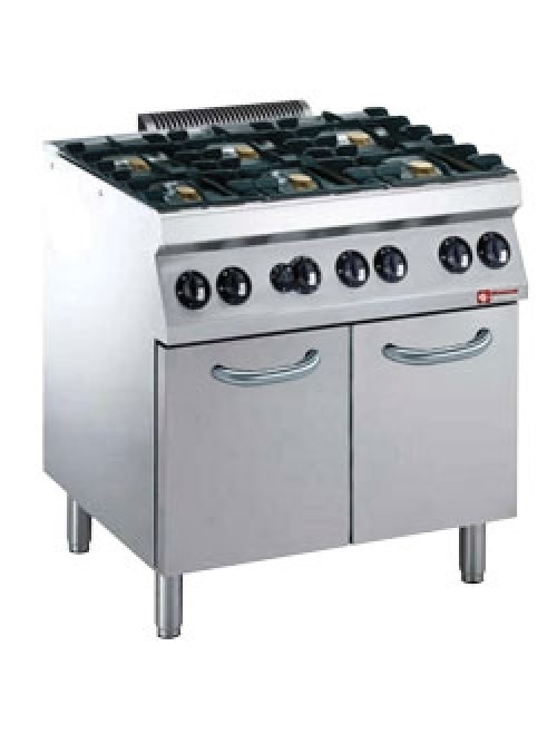 G17/6BFM9-AGA Gas Range Oven GN 1/1 with 6 Burner Gas Stove
