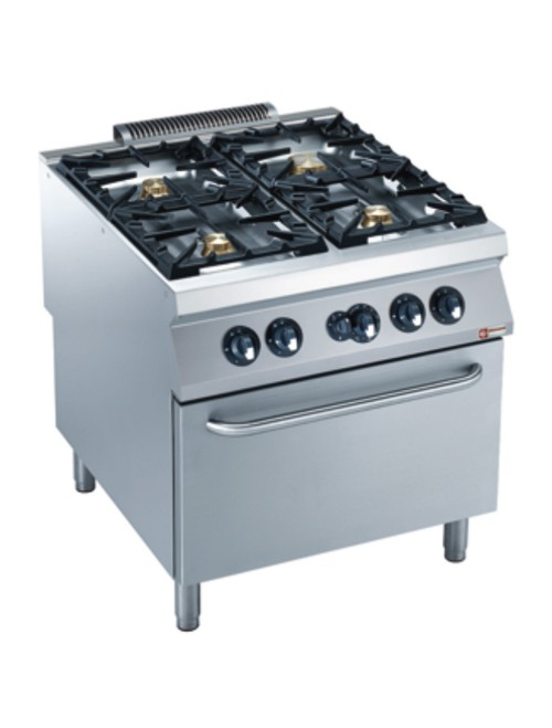 G22/4BF8-AGA Gas Range Oven GN 2/1 with 4 Burner Gas Stove