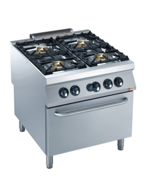 G22/4BF8PW-AGA Gas Range Oven GN 2/1 with 4 Burner Gas Stove