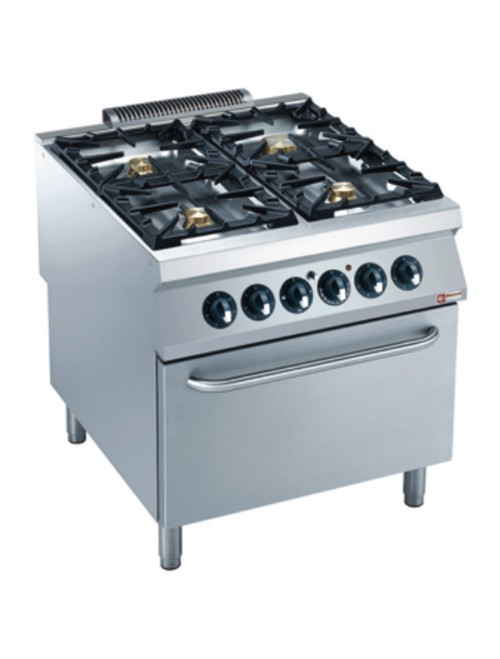 G22/4BFE8-AGA Electric Range Oven GN 2/1 with 4 Burner Gas Stove
