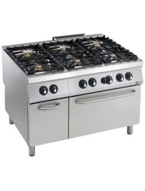 G22/6BFA12-AGA Gas Range Oven GN 2/1 With 6 Burner Gas Stove