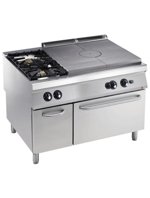 G22/T2BFA12-AGA Freestanding Gas Target Top with Dual Burners & GN2/1 Gas Oven