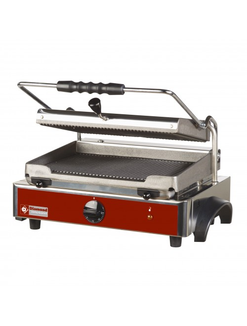 GR-PANOS Electric Panini Grill with Ribbed Plates