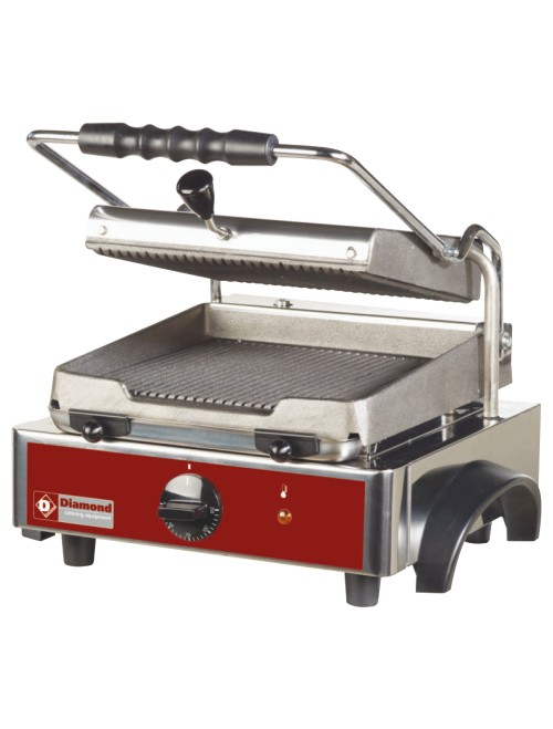 GR42 Electric Panini Grill with Ribbed Plates