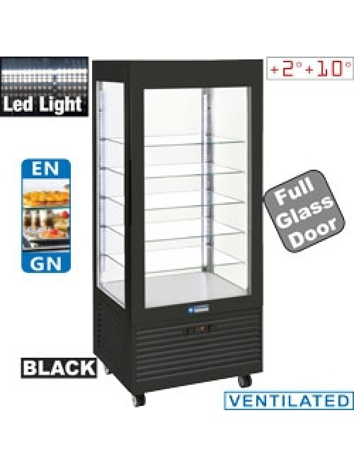 INN/VN-B9 Upright Refrigerated Display Case Black