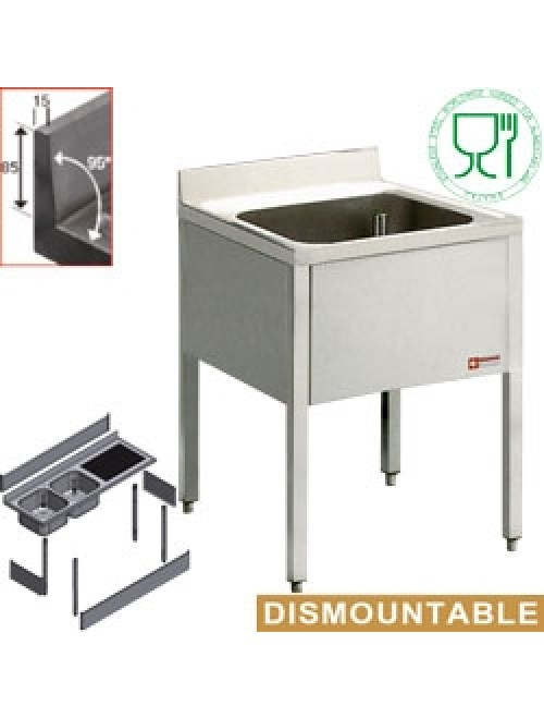 L610/6-KD Freestanding Sink with Base 600mm