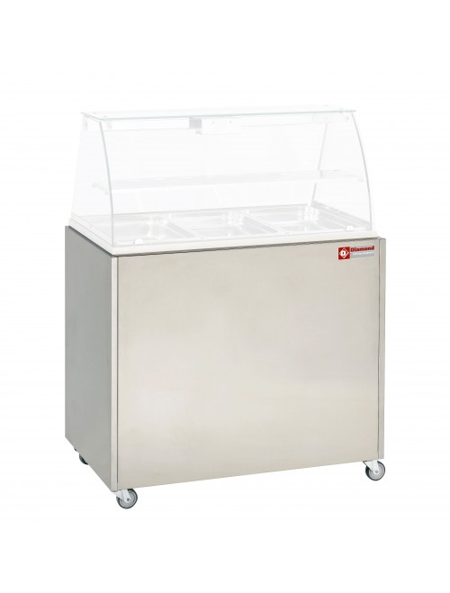 MEX-RG3 Support Trolley with Lockable Castors suit VBE-311 Countertop Warmer