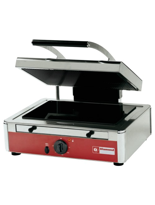 MGV45/F-N Ceramic Contact Grill with Ribbed Upper Plate