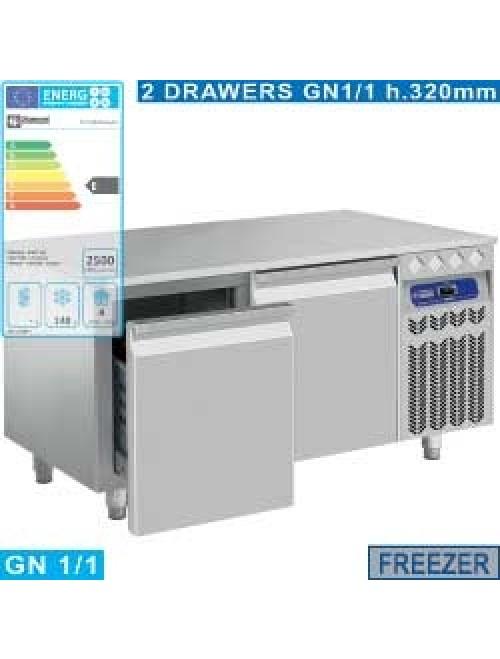 N77/B212G/EL Undercounter Freezer 2 Drawer GN1/1