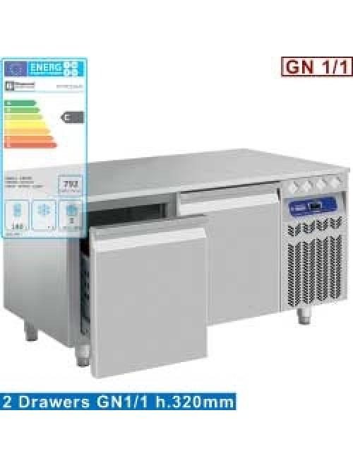 N77/R212G-EL Undercounter Fridge 2 Drawer GN1/1