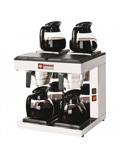 PCF-S4 Dual Coffee Percolator with Warming Plates