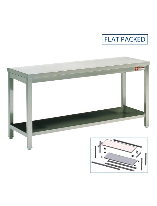 TL1871/KD SS Work Table With Lower Shelf 1800W