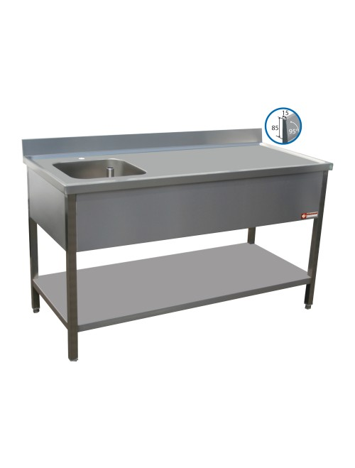 TV1871SA Chef Table With Left Hand Sink