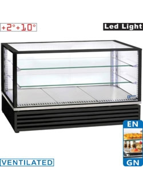 VRDG-B1 Panoramic Refrigerated Display Case Black