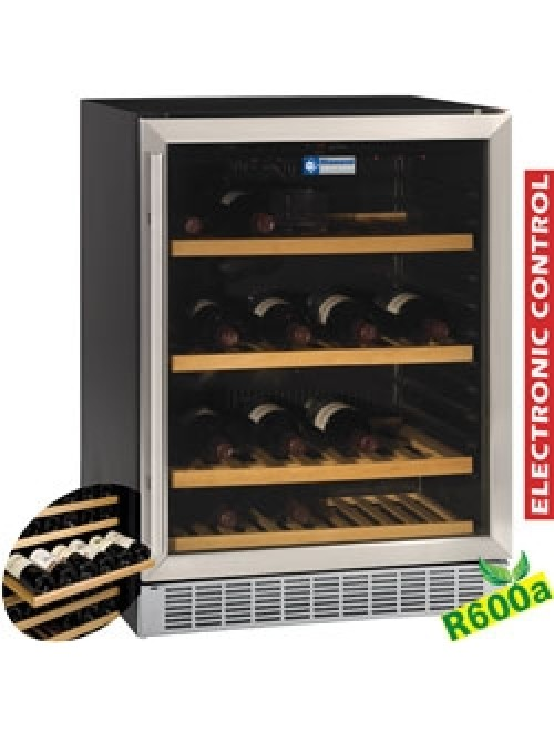 WCB/16-X Glazed Wine Cabinet 160L Black