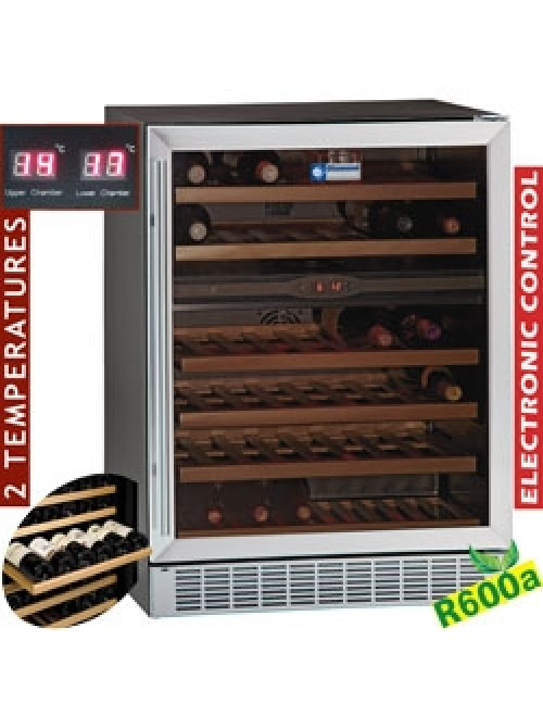 WCB/16-X2 Glazed Wine Cabinet 160L Black