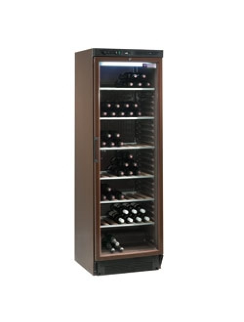 WINE-GL38/T Glazed Wine Cabinet 372L Brown